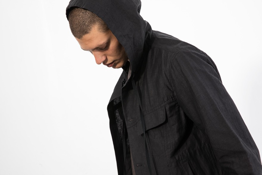 Injected Linen Hooded
