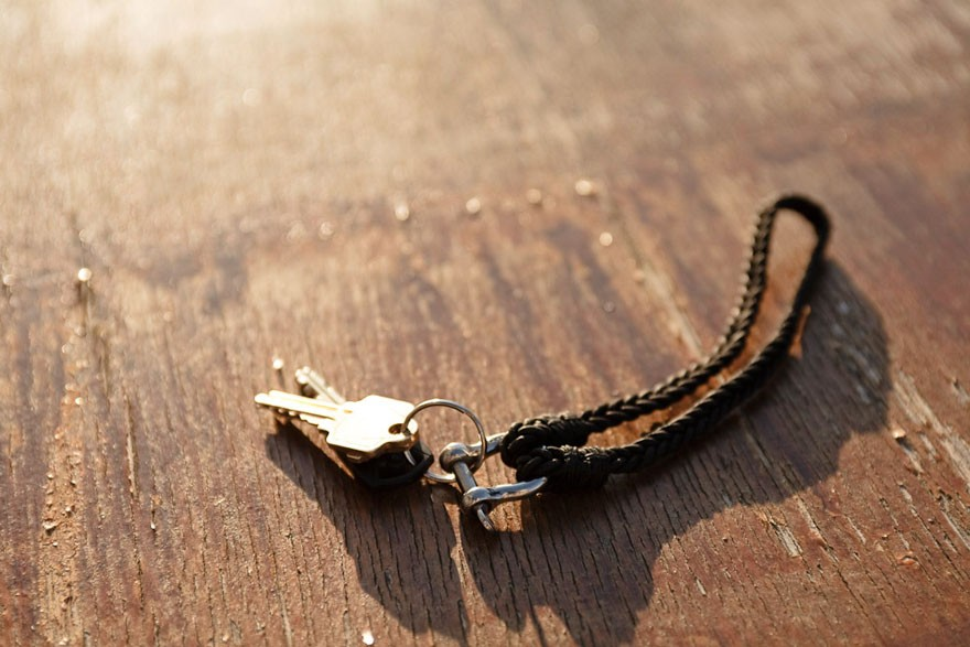 ML Brown for Outlier Braided Keychain