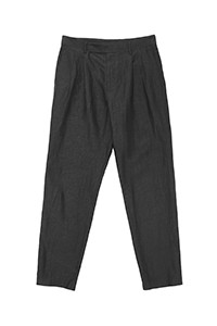 Injected Linen Pleated Pants